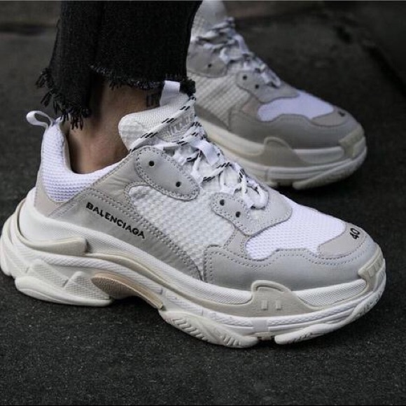 0a2db51216 balenciaga sneakers 37. Balenciaga Shoes | Triple S White Size ...
